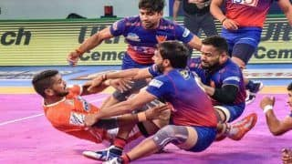 Dream11 Team DEL vs UP Pro Kabaddi League 2019 - Kabaddi Prediction Tips For Today's PKL Match 122 Dabang Delhi vs UP Yoddha at Shaheed Vijay Singh Pathik Sports Complex in Greater Noida