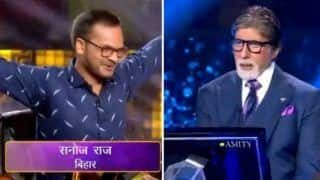 Kaun Banega Crorepati 11: Sanoj Raj Becomes The First Crorepati of This Season - Watch Promo