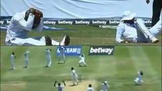 Ind vs WI: Windies Team Heartbroken After Kemar Roach Misses Hattrick as Ajinkya Rahane Survives at Jamaica | WATCH VIDEO
