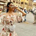 Kiara Advani Puts on The Italian Mask And Strikes a Sexy Pose in Floral White Dress During Her Italy Vacay
