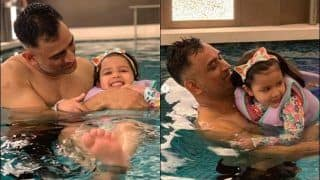 MS Dhoni Playing With Ziva in The Pool Will Give You Major Father-Daughter Goals | SEE PICS