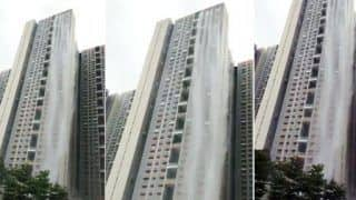 Cuffe Parade Skyscrapper Turns Into Waterfall, Thanks to Mumbai Rains