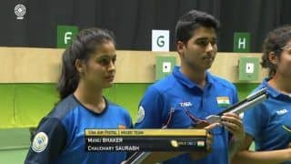 ISSF Shooting World Cup: Manu Bhaker-Saurabh Chaudhary Win Gold in Mixed 10m Air Pistol Event, India Beat China to Finish on Top in Rio
