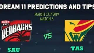 Dream11 Team South Australia vs Tasmanian Tigers, Match 8 Marsh One-Day Cup 2019 Australian ODD – Cricket Prediction Tips For Today's Match SAU vs TAS at Adelaide