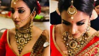 Bhojpuri Bombshell Monalisa's Hot Bridal Avatar in Red Lehenga Will Brighten up Your Sunday