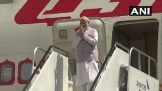 PM Modi Arrives at Ahmedabad Airport For Gandhi Jayanti Celebrations