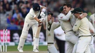 Ashes 2019: Pat Cummins Clean Bowls Joe Root For Golden Duck With a Peach at Old Trafford | WATCH VIDEO