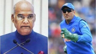President Ram Nath Kovind Showers Praise on MS Dhoni, Says Former Team India Skipper Made Ranchi Famous in World of Cricket