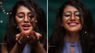 Malayalam Hottie Priya Prakash Varrier Couldn't Hold Her Excitement as She Plays With Sparkles
