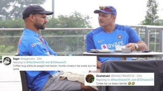 India vs South Africa: Ravi Shastri Unnecessarily TROLLED For Having Coffee With Shikhar Dhawan Ahead of T20I Opener at Dharamsala | SEE POSTS