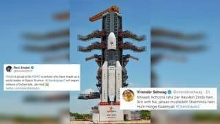 Chandrayaan-2 Will Inspire Millions of Indian Kids: Ravi Shastri to Virender Sehwag, How Cricket Fraternity Hailed ISRO Scientists | SEE POSTS