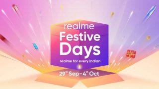 Realme Festive Days सेल 29 सितंबर से इन डिस्काउंट और ऑफर्स के साथ होगी शुरू