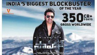 Saaho Box Office Collection: 'साहो' ने पांच दिन में कमाए 350 करोड़ रुपये