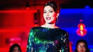 Haryanvi Bombshell Sapna Choudhary Looks Uber Hot in Sparkling Dress And Bold Red Lips