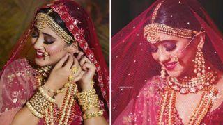 Yeh Rishta Kya Kehlata Hai Fame Shivangi Joshi Looks Like Royal Princess in Red Lehenga Bridal Avatar