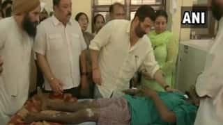 Firecrackers Factory Blast: Gurdaspur MP Sunny Deol Visits Injured People at Hospital