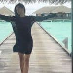 Sushmita Sen's Breezy Picture in Sheer Black Dress at Maldives is What You Call Vacay Goals