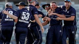 Tasmania Cricket Team Loses Five Wickets For Three Runs as Victoria Steal Narrow Win in Australia's Domestic Marsh ODI Cup | WATCH VIDEO