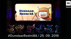 Xiaomi Redmi 8A भारत में 25 सितंबर को होगा लॉन्च, 5000mAh होगी बैटरी