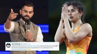 Indian Cricket Team Captain Virat Kohli Congratulates Vinesh Phogat on Twitter For Winning Bronze Medal at World Wrestling Championship | SEE POST