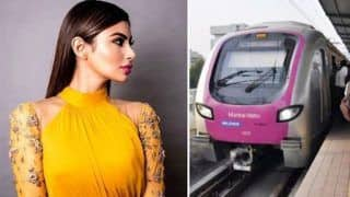 Mumbai: Huge Rock Falls on Mouni Roy's Car, Narrow Escape For Actress