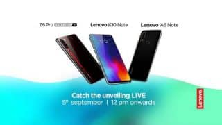 Lenovo K10 Note, Z6 Pro, A6 Note launching in India today: How to watch live stream