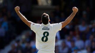 Ashes 2019: मिशेल मार्श के पंच से 294 रन पर सिमटी इंग्लैंड की पहली पारी