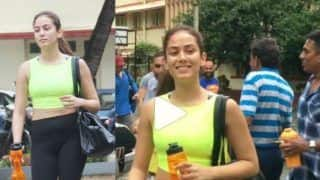 Mira Kapoor Hits The Gym in Neon Crop Top And Black Joggers, Smiles as She Gets Papped