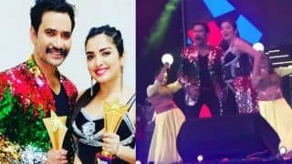 Bhojpuri Cinema Screen And Stage Awards: Amrapali Dubey And Nirahua Aka Dinesh Lal Yadav's Stage Dance is Unmissable- Watch