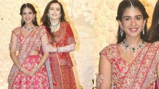 Nita Ambani Poses With Radhika Merchant And Isha Ambani at Ganesh Chaturthi Bash - See Pictures