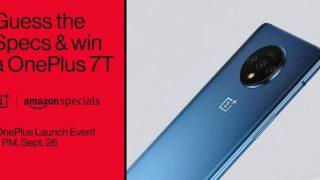 OnePlus 7T स्मार्टफोन Amazon India पर हुआ लिस्ट, स्पेसिफिकेशंस का अंदाजा लगाने पर मिलेगा फ्री