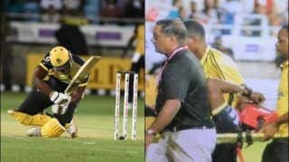 Carribean Premier League 2019: Andre Russell Suffers Brutal Brutal Blow on Head While Batting For Jamaica Tallawahs, Leaves Ground on Stretcher Against St Lucia Zouks