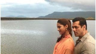 Salman Khan Drops First Picture With Debutant Saiee M Manjrekar From Sets of Dabangg 3 And it Already Crosses 1 Million Likes