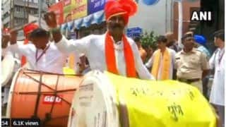 Maha jail Inmates' Troupe Plays Drums at Pune Ganpati Mandal- Watch