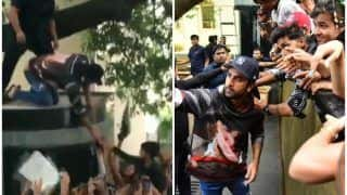 Ranbir Kapoor Sets Fans Hearts Aflutter as he Steps Out to Click Selfies, Receives Bouquets on Birthday