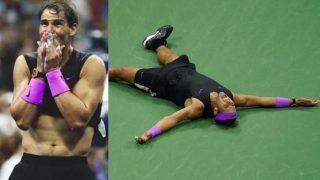 US Open Final: डेनिल मेदवेदेव को हराकर कुछ यूँ फफक कर रो उठे नडाल, देखें VIDEO