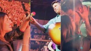 Priyanka Chopra Kisses Nick Jonas at Concert, Wishes Him Birthday With Rose