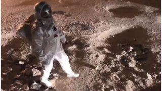 Astronaut in Bengaluru Streets Moonwalks on Crater-size Potholes- Watch Bizarre Video; Netizens Slam BBMP