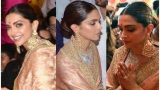 Deepika Padukone's Stunning Traditional Look at Ganpati Puja Leaves Fans Ogling, Videos go Viral