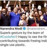Varun Dhawan's Coolie No.1 Sets Get Pat on The Back by Narendra Modi For Going Plastic-Free