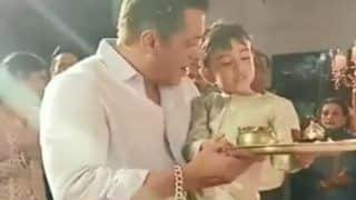 Salman Khan-Ahil's Videos of Ganpati Aarti And Dancing to Dhol Beats Will Amp Your Festive Mood!