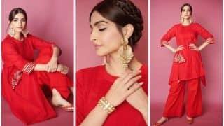 Sonam Kapoor's Red Hot 'Firestarter' Look For The Zoya Factor Promotions Set Temperatures Soaring