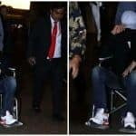 Angrezi Medium Star Irrfan Khan Spotted on Wheelchair at Airport, Pictures of Hiding Face From Paparazzi go Viral