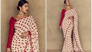 Priyanka Chopra Gives Saree Game Red Hot Spin as She Redefines Desi at The Sky Is Pink's Promotions