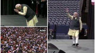 Howdy Modi Event: मंच पर पहुंचे PM मोदी, ट्रंप का ट्वीट- मित्र मोदी के साथ दिन शानदार होगा