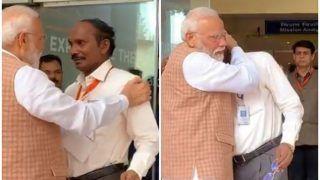 इसरो चीफ हुए भावुक तो पीएम मोदी ने लगा लिया गले, कुछ इस तरह दिया हौसला, देखें VIDEO