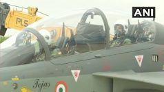 VIDEO: राजनाथ सिंह ने की स्वदेशी लड़ाकू विमान तेजस की सवारी, ऐसा करने वाले पहले रक्षा मंत्री बने