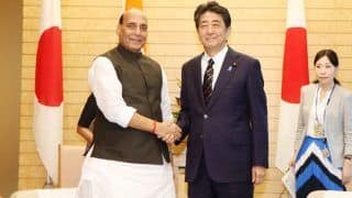 Rajnath Singh Meets Japan's PM Shinzo Abe in Tokyo, Discusses Article 370 With Defence Minister Takeshi Iwaya