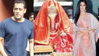 Arpita Khan's Ganpati Celebration: Salman Khan Seeks Blessings, Katrina Kaif Joins in