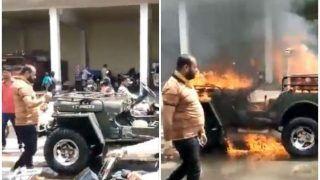 स्टार्ट नहीं हुई तो बीच सड़क पर जीप में लगा दी आग, टिक-टॉक वीडियो बनाकर किया शेयर, फिर...